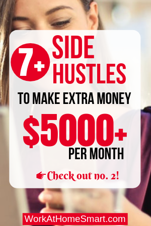 side hustles to make extra money from home