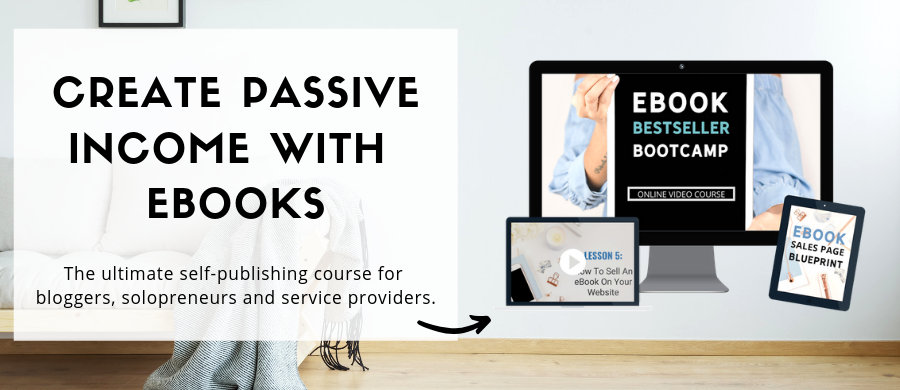 passive income ideas - ebook bestseller bootcamp