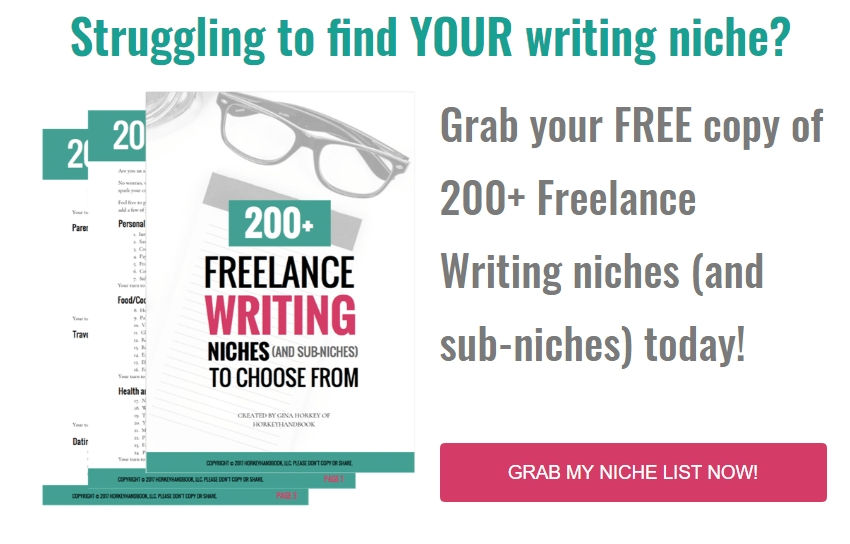 Side Hustles To Make Extra Money Working From Home FREE-list-of-200-freelance-writing-niches