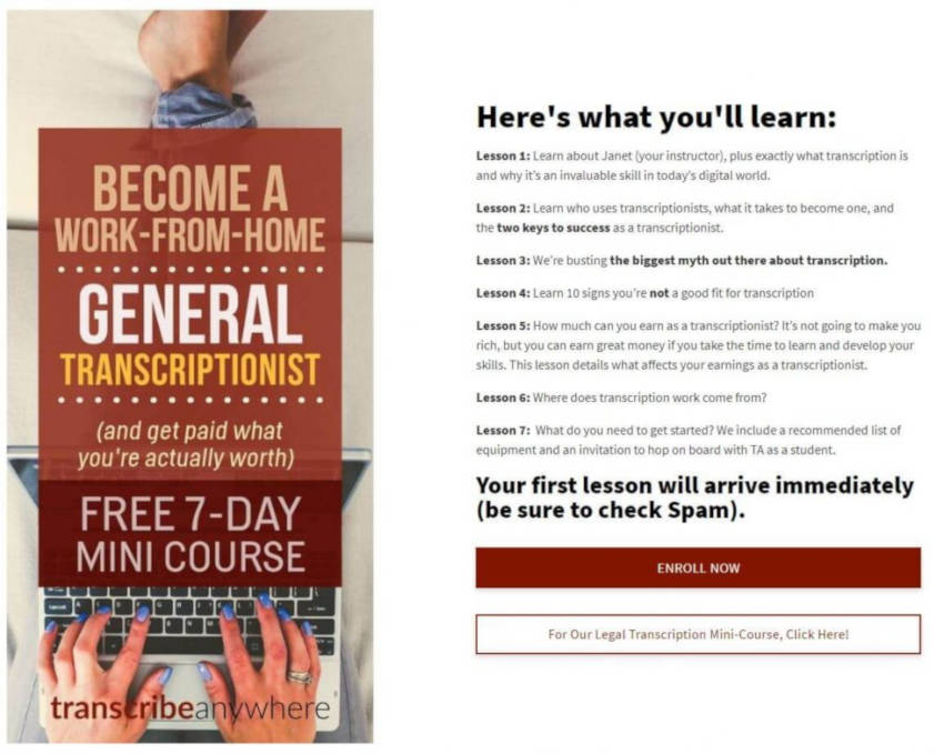 free general transcription mini course