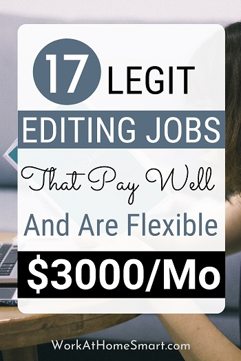 17 ONLINE EDITING JOBS FROM HOME