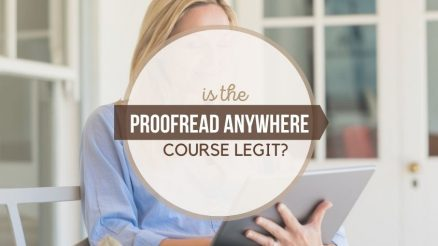 is the proofread anywhere course legit